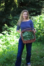 Jessica and a basket full of nettles