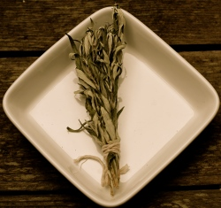 bundle of dried mugwort